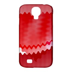 Red Fractal Wavy Heart Samsung Galaxy S4 Classic Hardshell Case (PC+Silicone)