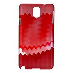 Red Fractal Wavy Heart Samsung Galaxy Note 3 N9005 Hardshell Case