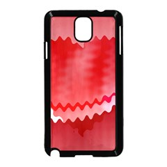 Red Fractal Wavy Heart Samsung Galaxy Note 3 Neo Hardshell Case (Black)