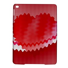 Red Fractal Wavy Heart Ipad Air 2 Hardshell Cases