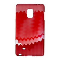 Red Fractal Wavy Heart Galaxy Note Edge