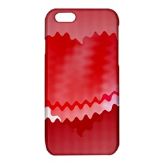 Red Fractal Wavy Heart iPhone 6/6S TPU Case