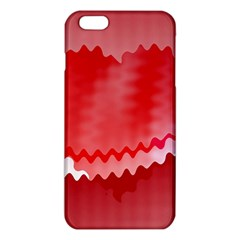 Red Fractal Wavy Heart iPhone 6 Plus/6S Plus TPU Case