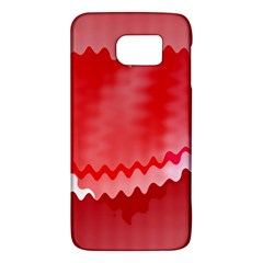Red Fractal Wavy Heart Galaxy S6