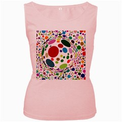 Color Ball Women s Pink Tank Top
