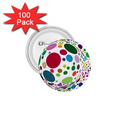 Color Ball 1 75  Buttons (100 Pack)