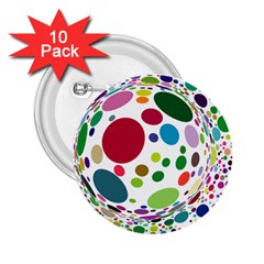 Color Ball 2 25  Buttons (10 Pack)
