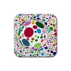 Color Ball Rubber Coaster (square)