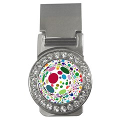 Color Ball Money Clips (cz)
