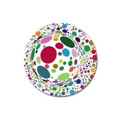 Color Ball Magnet 3  (round)