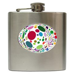 Color Ball Hip Flask (6 Oz)