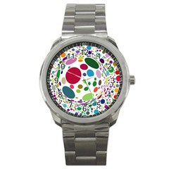 Color Ball Sport Metal Watch