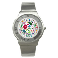 Color Ball Stainless Steel Watch