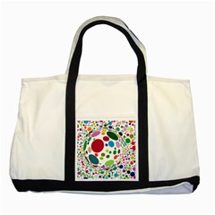 Color Ball Two Tone Tote Bag