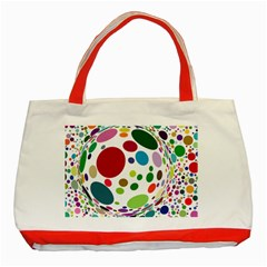 Color Ball Classic Tote Bag (red)