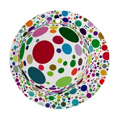 Color Ball Round Ornament (two Sides)