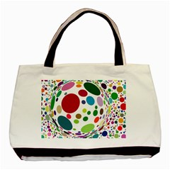 Color Ball Basic Tote Bag (two Sides)