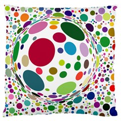 Color Ball Large Cushion Case (two Sides)
