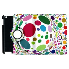 Color Ball Apple Ipad 2 Flip 360 Case