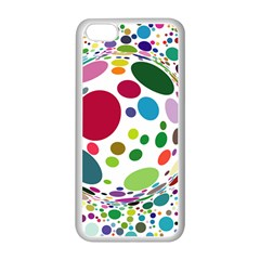 Color Ball Apple Iphone 5c Seamless Case (white)