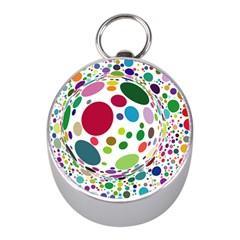 Color Ball Mini Silver Compasses