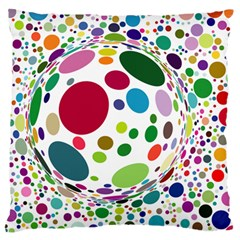 Color Ball Standard Flano Cushion Case (two Sides)