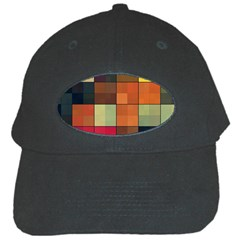 Background With Color Layered Tiling Black Cap