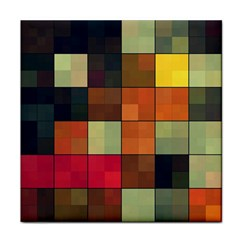 Background With Color Layered Tiling Tile Coasters