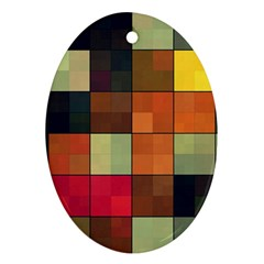 Background With Color Layered Tiling Ornament (oval)