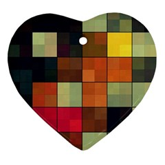 Background With Color Layered Tiling Ornament (heart)