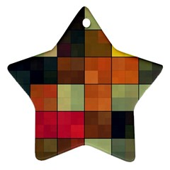Background With Color Layered Tiling Ornament (Star)