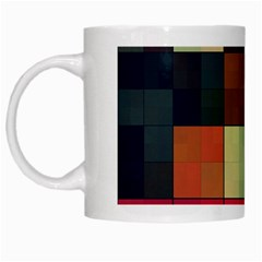 Background With Color Layered Tiling White Mugs
