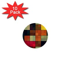 Background With Color Layered Tiling 1  Mini Buttons (10 Pack)