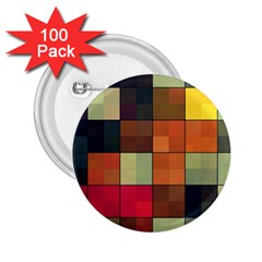 Background With Color Layered Tiling 2.25  Buttons (100 pack)