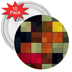 Background With Color Layered Tiling 3  Buttons (10 pack)
