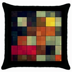 Background With Color Layered Tiling Throw Pillow Case (Black)