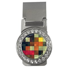 Background With Color Layered Tiling Money Clips (cz)