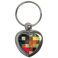 Background With Color Layered Tiling Key Chains (heart)
