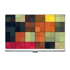 Background With Color Layered Tiling Business Card Holders