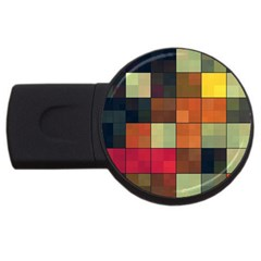 Background With Color Layered Tiling USB Flash Drive Round (2 GB)