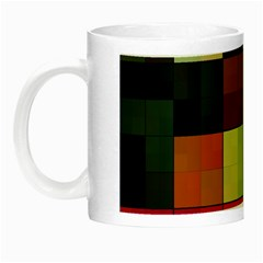 Background With Color Layered Tiling Night Luminous Mugs