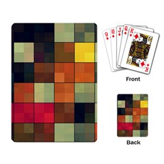 Background With Color Layered Tiling Playing Card