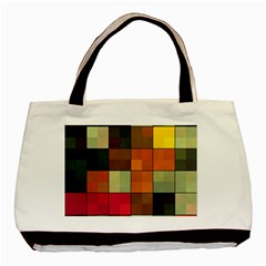 Background With Color Layered Tiling Basic Tote Bag