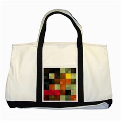 Background With Color Layered Tiling Two Tone Tote Bag