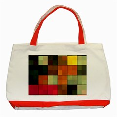 Background With Color Layered Tiling Classic Tote Bag (red)