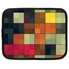 Background With Color Layered Tiling Netbook Case (large)