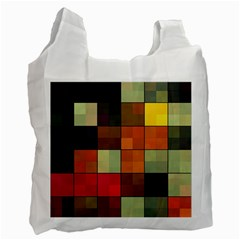 Background With Color Layered Tiling Recycle Bag (one Side)