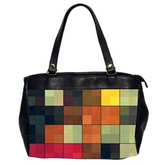 Background With Color Layered Tiling Office Handbags (2 Sides)