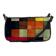Background With Color Layered Tiling Shoulder Clutch Bags