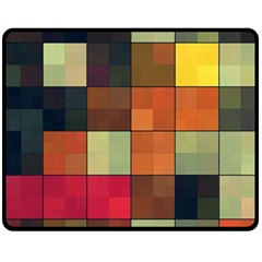Background With Color Layered Tiling Fleece Blanket (medium)